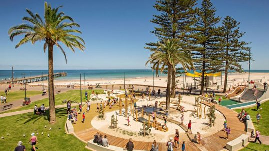 Best Playgrounds in Adelaide - Glenelg Foreshore Playspace - The Beachouse